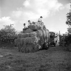 Standing-Stones-top-field.-Early-landrover-and-trailer